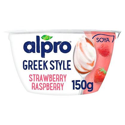 Alpro Greek Style Strawberry & Raspberry Yogurt