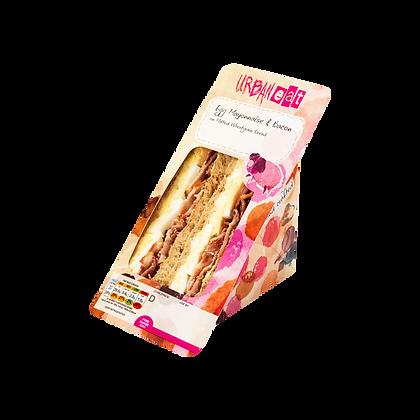 Egg Mayonnaise and Bacon Sandwich