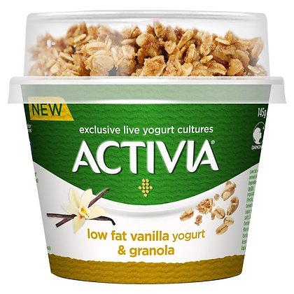 Activia Low Fat Yogurt Vanilla & Granola