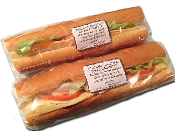 Cheddar Cheese & Salad Baguette