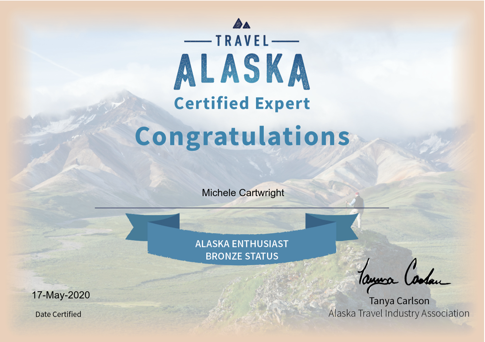 Michele Travel Alaska Certified Expert C