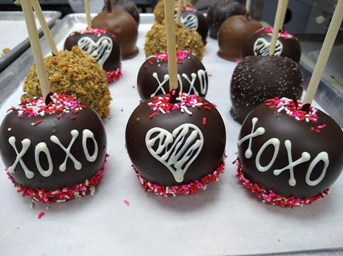 Caramel Chocolate Covered Apples