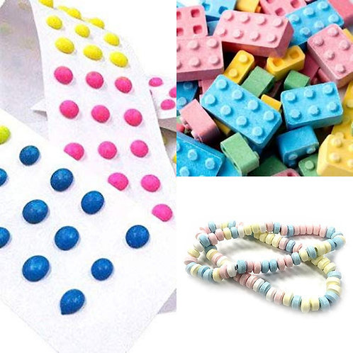 Candy Blocks, Buttons or Necklaces