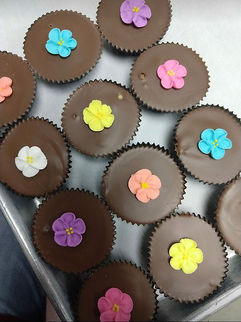 Homemade Peanut Butter Cups with Icing Decoration
