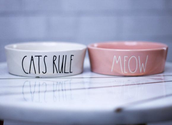 Set of Ceramic Cat Bowls