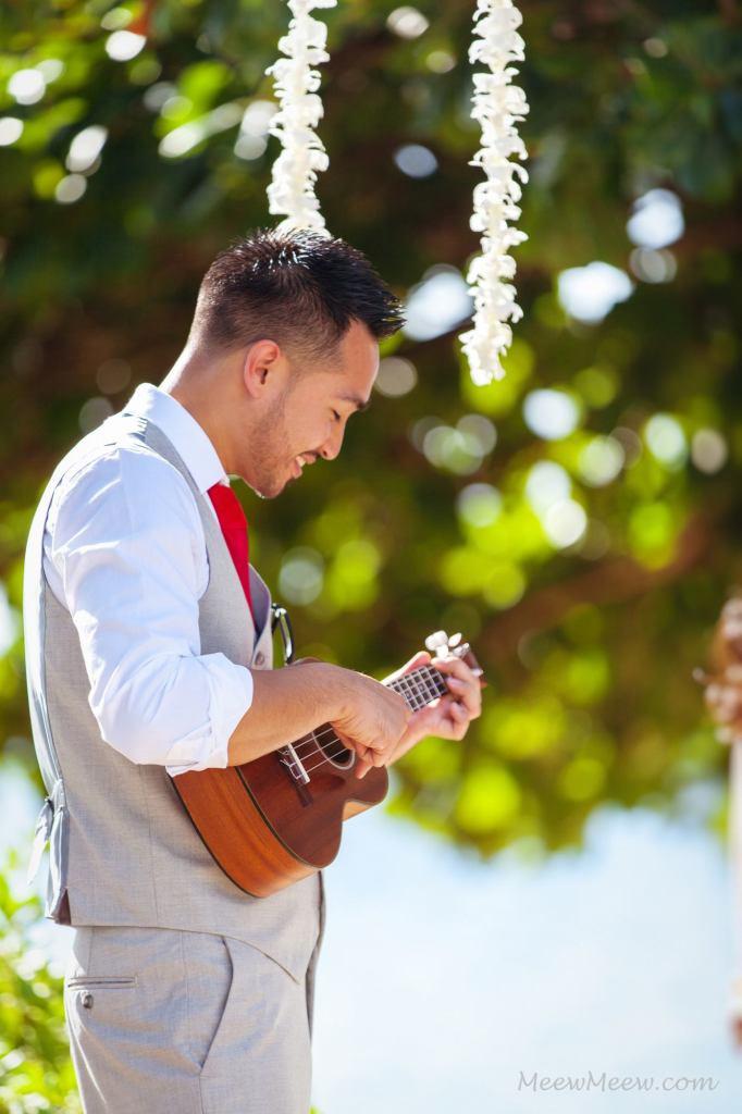 Groom sings to Bride