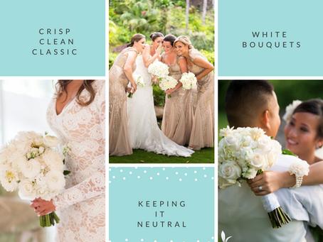 Crisp, Clean & Classic White Bouquets