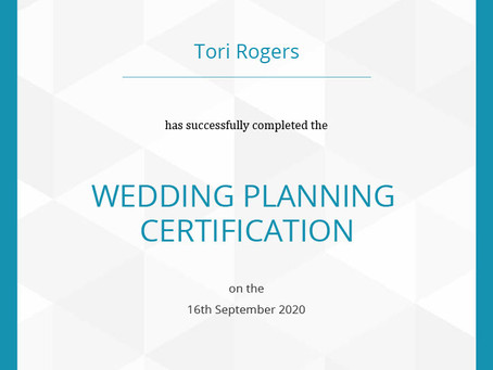 Tori is a Certified Wedding Planner