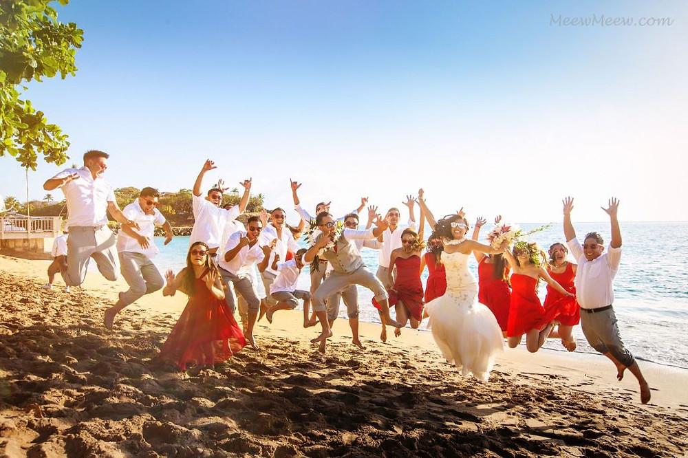 Beach Party Bridal Jump 2