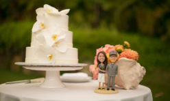 Wedding Cake Bobblehead Cake Toppers