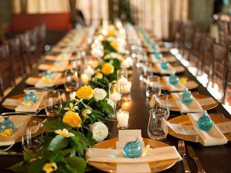 Wedding Table Decor for Wedding at Spago Wailea