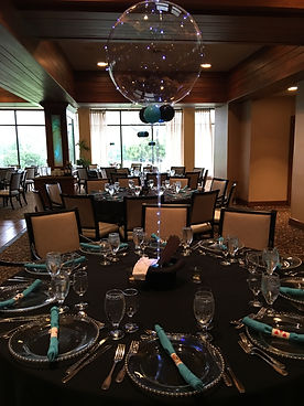 Leo's Bar Mitzvah at North Ranch Country Club. Balloons by Cathy.  Hawaii Weddings by Tori Rogers planned event.