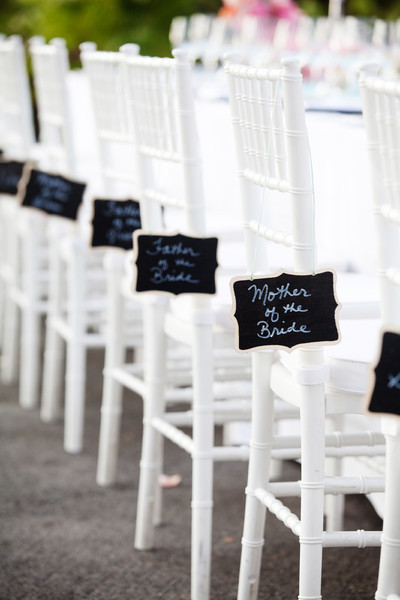 decorated chairs