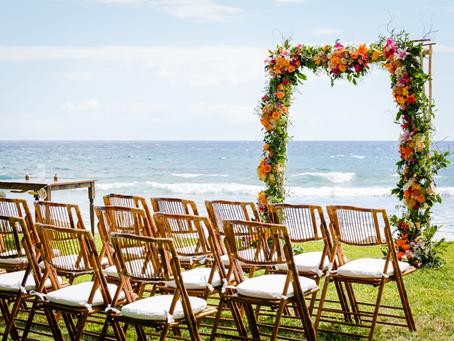 Bohemian Rustic Romantic Olowalu Wedding