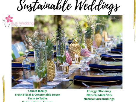 Sustainable Weddings & Events-Make a Difference-Be the Change