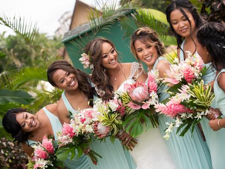 Tropical Blush Bouquets