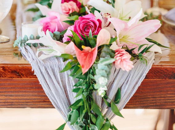 tablescape garland cheesecloth