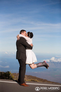 haleakala wedding photo