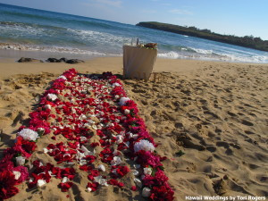 kauai beach wedding ceremony