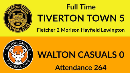 Tiverton Town 5-0 Walton Casuals