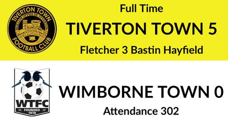 Tiverton Town 5-0 Wimborne Town