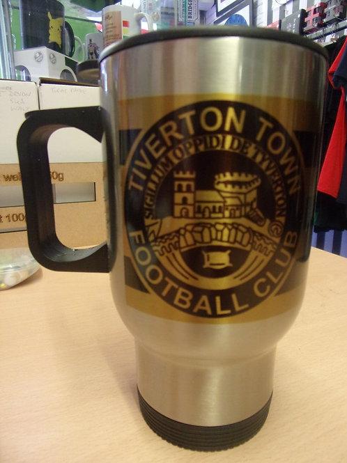 TIVERTON TOWN F.C ALUMINIUM TRAVEL MUG
