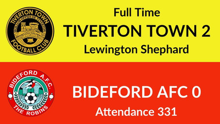 Tiverton Town 2-0 Bideford