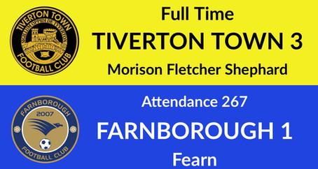 Tiverton Town 3-1 Farnborough