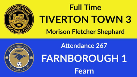 Tiverton Town 3-1 Farnborough