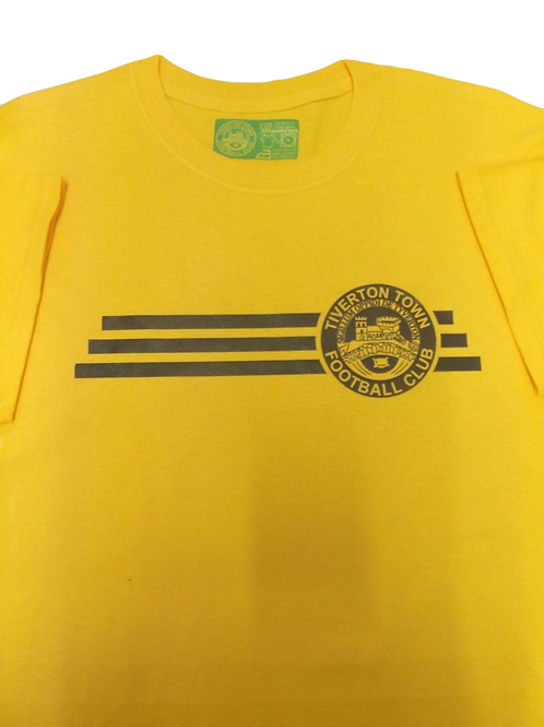 TIVERTON TOWN F.C. YELLOW T-SHIRT