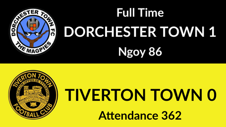 Dorchester Town 1-0 Tiverton Town
