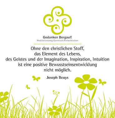 """""""Besinnungstafel"""" des Meditationswegs """"Gedanken Bergauf!"""" in Garmich-Partenkirchen"""