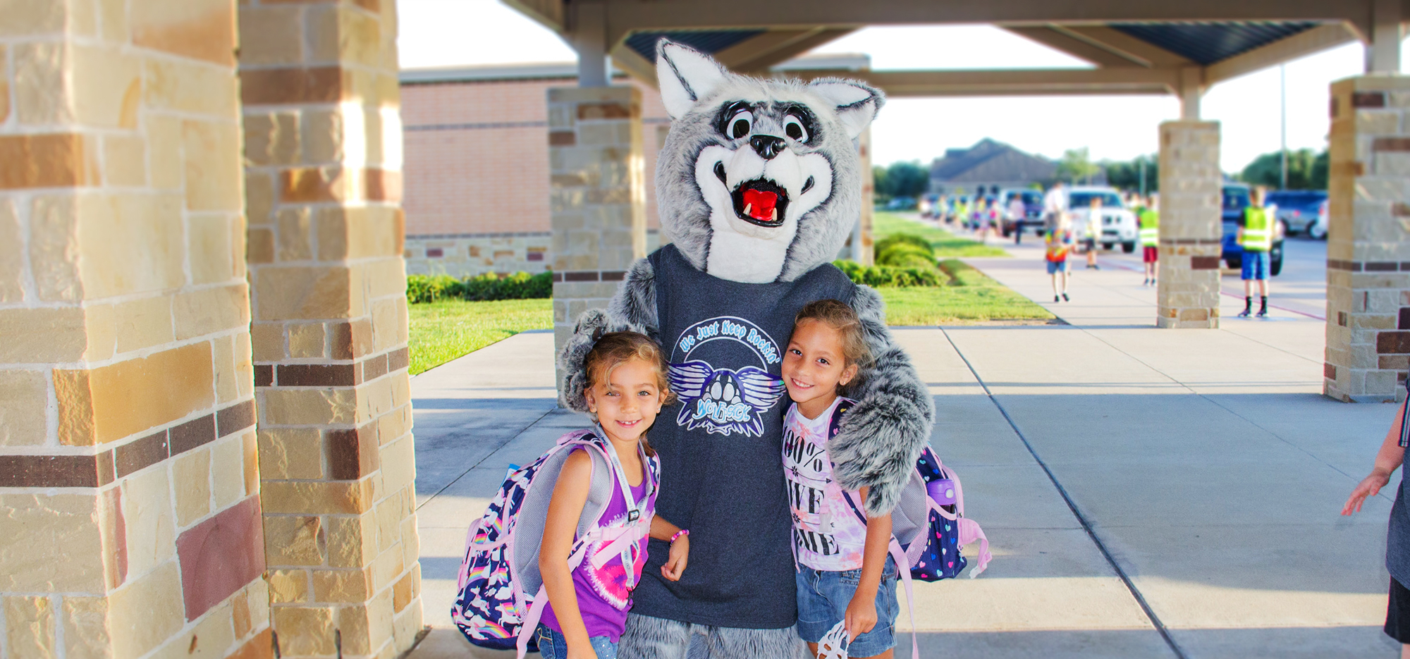 Mascot with Students