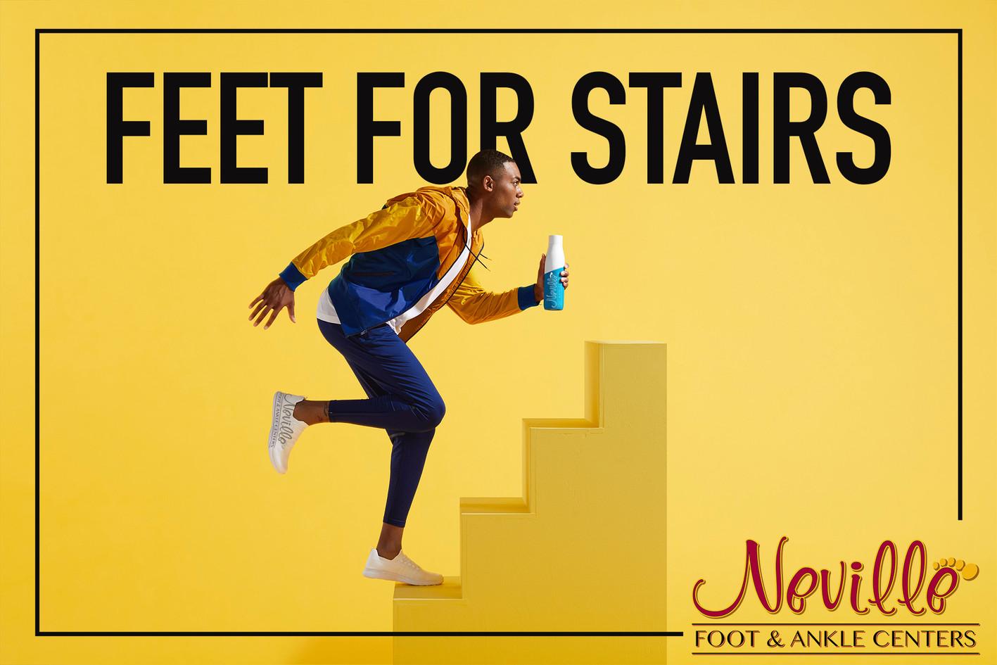 Neville Feet LOVE stair cases