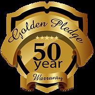 golden pledge 50 year warranty