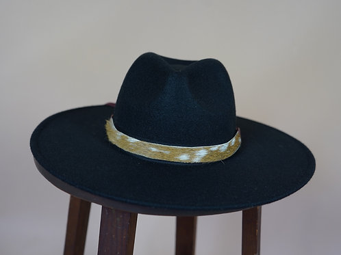 Axis Deer Hat Band- Wine Red Leather