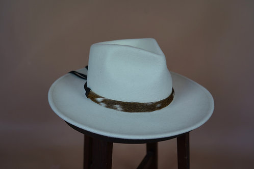 Axis Deer Hat Band- Black Leather