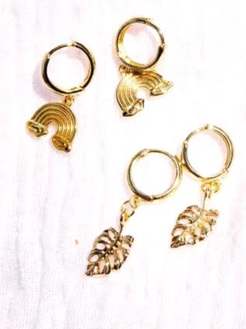 Monstera Earrings- Millie Pico Collab