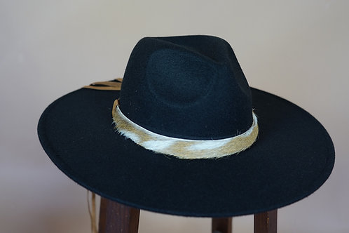 Axis Deer Hat Band- Brown Leather