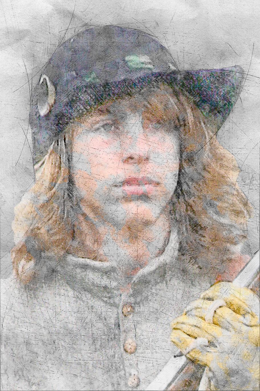 Medieval Gunner Boy