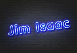 Jim Isaac Blue Neon Slanted