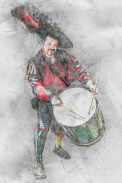 Italian Medieval Drummer
