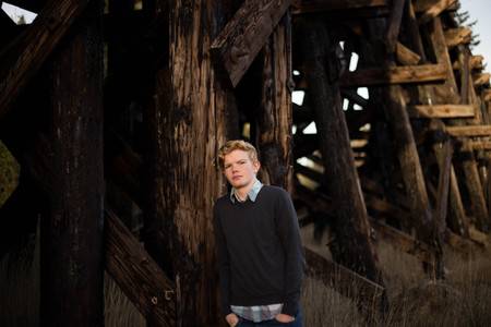Senior boy photo session by A Bit O' Whimsy Photography in Yelm, WA