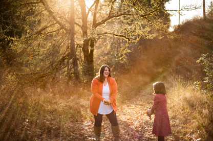 fall mother daughter family pictures