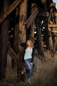 Senior girl photo session by A Bit O' Whimsy Photography in Rainier, WA