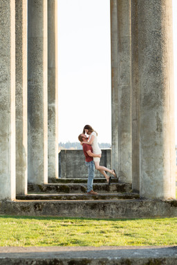 Couples photography session at Chambers Bay, Washington State