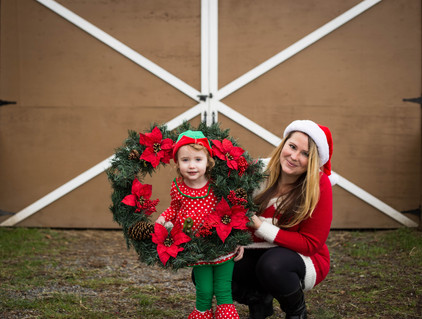 Christmas family photo session in Yelm, WA