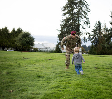 Father and son pictures at Olympia State Capitol building. Photography by A Bit O' Whimsy
