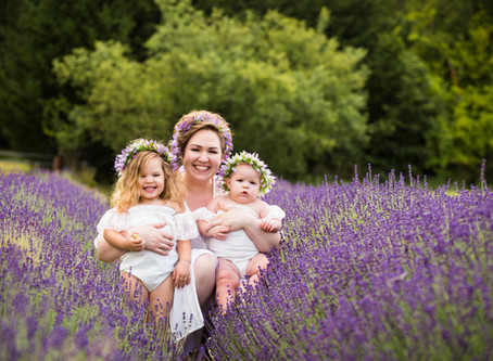 Robinson Girls Lavender Session