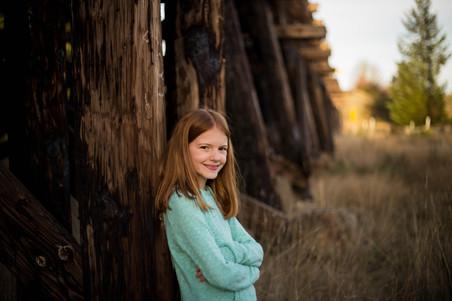 Tween outdoor portraits in Rainier, WA